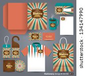 stationery design set in vector ... | Shutterstock .eps vector #134147990