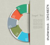 half circle design template for ... | Shutterstock .eps vector #134148374