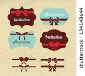collection of vintage labels ... | Shutterstock .eps vector #134148644