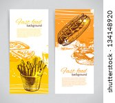 banners of fast food design....   Shutterstock .eps vector #134148920