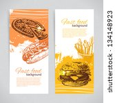 banners of fast food design.... | Shutterstock .eps vector #134148923