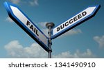 two street arrow signs pointing ... | Shutterstock . vector #1341490910