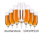 full and empty champagne... | Shutterstock . vector #134149214