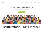 join our community. crowd of... | Shutterstock .eps vector #1341495050