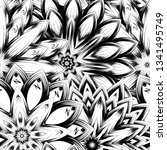 seamless floral background.... | Shutterstock .eps vector #1341495749