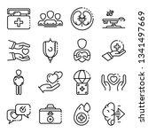 donate organs icons set....   Shutterstock .eps vector #1341497669