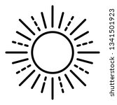 summer sun icon. outline summer ... | Shutterstock .eps vector #1341501923