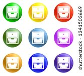 drawer icons vector 9 color set ... | Shutterstock .eps vector #1341503669