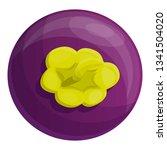 whole mangosteen icon. cartoon... | Shutterstock .eps vector #1341504020