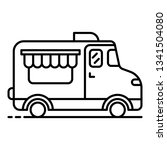 coffee street truck icon.... | Shutterstock .eps vector #1341504080
