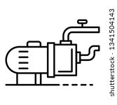 pool motor pump icon. outline... | Shutterstock .eps vector #1341504143