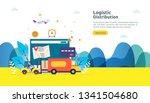 global logistic distribution... | Shutterstock .eps vector #1341504680
