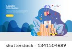 global logistic distribution... | Shutterstock .eps vector #1341504689