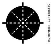 periscope aim icon. simple... | Shutterstock .eps vector #1341506660