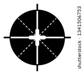 sniper aim icon. simple... | Shutterstock .eps vector #1341506753