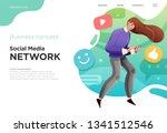 presentation slide templates or ... | Shutterstock .eps vector #1341512546