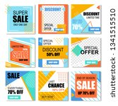 special discount posters for... | Shutterstock .eps vector #1341515510