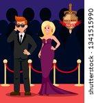 bodyguard and celebrity flat... | Shutterstock .eps vector #1341515990