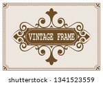 decorative frame in vintage... | Shutterstock .eps vector #1341523559