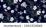 seamless floral pattern in... | Shutterstock .eps vector #1341524060