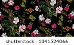 seamless floral pattern in... | Shutterstock .eps vector #1341524066