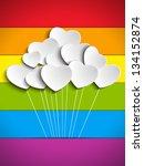 vector   gay flag hearts... | Shutterstock .eps vector #134152874