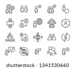 set of business people icons ... | Shutterstock .eps vector #1341530660