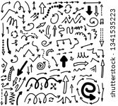 set of vector doodle drawing... | Shutterstock .eps vector #1341535223