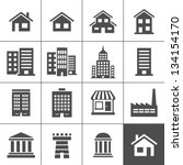 building icons set. vector... | Shutterstock .eps vector #134154170