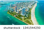 view of miami beach  south... | Shutterstock . vector #1341544250