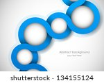 abstract background with blue... | Shutterstock .eps vector #134155124