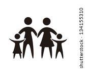 family icon over white...