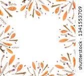 autumn frame composition made...   Shutterstock . vector #1341553709