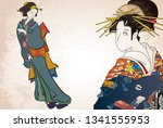 a girl who hates wearing a...   Shutterstock .eps vector #1341555953