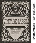 frame border vintage label or... | Shutterstock .eps vector #1341560006
