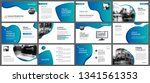 presentation and slide layout... | Shutterstock .eps vector #1341561353