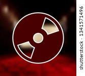 cd or dvd mono color icon .... | Shutterstock .eps vector #1341571496