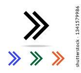 double arrow icon. elements of...