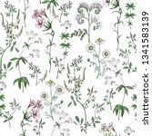 Meadow Flowers Vector Seamless...