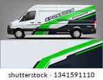 van wrap livery design. ready...   Shutterstock .eps vector #1341591110