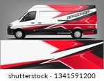 van wrap livery design. ready... | Shutterstock .eps vector #1341591200