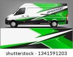 van wrap livery design. ready...   Shutterstock .eps vector #1341591203