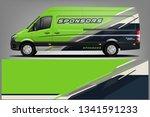 van wrap livery design. ready...   Shutterstock .eps vector #1341591233