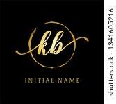 luxury kb initial letter logo ... | Shutterstock .eps vector #1341605216