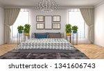 bedroom interior. 3d... | Shutterstock . vector #1341606743