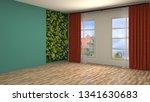empty interior. 3d illustration | Shutterstock . vector #1341630683