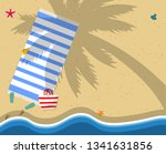 top view of exotic empty beach... | Shutterstock .eps vector #1341631856
