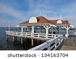bradenton beach historic pier... | Shutterstock . vector #134163704