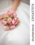 bride holding flower bouquet    Shutterstock . vector #1341637076