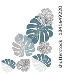 vector tropical pattern with... | Shutterstock .eps vector #1341649220